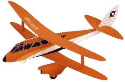 Летающая модель биплана