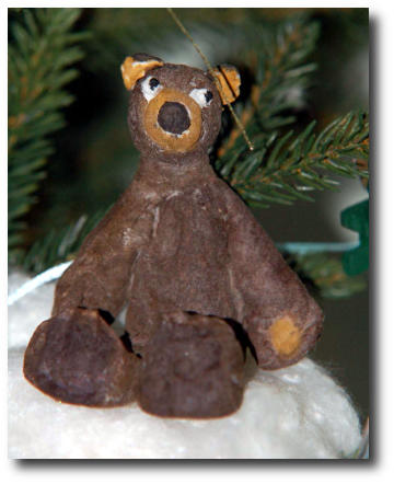 Медведь - игрушка из ваты