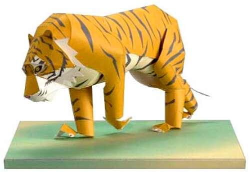 Сделать тигра своими руками из бумаги